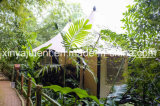 Tienda de campaña de plástico resistente a los rayos UV resistente tienda de safari para la venta