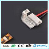 10mm 2 Speld Twee Schakelaar met Kabel voor Licht van de Strook van de LEIDENE SMD 5050 het Enige Kleur