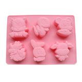 Сертификат FDA Food Grade силиконового материала торт пресс-форм, в форме животных силиконового герметика торт пресс-формы