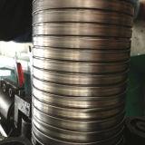 Machine de fabrication de tuyaux en métal à échappement à forme ronde