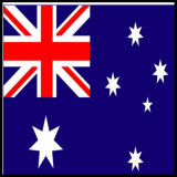 Koord van de Macht van Australië het Standaard van Drie Spelden met SAA