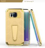 Samsung S7の端のケースのためのハイブリッドKickstandの携帯電話の箱