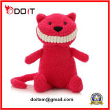 Red Big Smile Stuffed Cat Plush Cat Toy