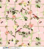 A tela do poliéster da flor da impressão para o vestido do vestuário ensaca sapatas
