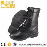 高品質の完全な革黒い軍の戦闘用ブーツ