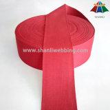 Tessitura rossa organica rossa del nastro del cotone da 2 pollici