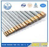 7/4.0mm ont galvanisé le brin de fil d'acier pour le câble de fibre optique/faisceau en acier
