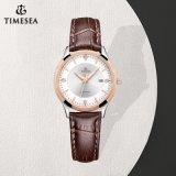 Nieuw Dame Wristwatch Decorated van het Staal van de Manier Horloge met Bergkristallen 71079