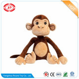 O animal de assento do macaco de Brown caçoa brinquedos macios do luxuoso do presente