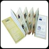 高品質によってカスタマイズされるカードのペーパー折るパンフレットの印刷