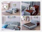 中国フォーシャンOEMの寝室の家具の現代デザイン柔らかいファブリックベッド