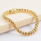 Juwelen van de manier namen de Gouden Armband van de Charme van de Mensen van het Roestvrij staal toe