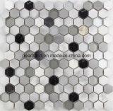 Los azulejos de mosaico de aluminio Matel de piedra embaldosan los azulejos Acs-Hns4301 de la pared del cuarto de baño de Backsplash de la cocina de la decoración