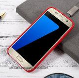 Het echte Geval van de Telefoon van de Cel van het Leer voor de Melkweg van Samsung S7