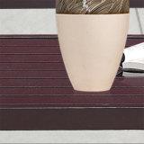 Jogo de madeira plástico do sofá da arte de pano da mobília ao ar livre luxuosa do jardim da forma