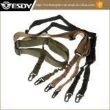 調節可能な軍隊2は戦術的なバンジーのライフルの吊り鎖を指す