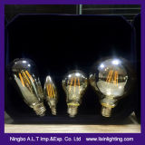 Ampoule de filament d'A60 2With4With6With8With10W DEL pour l'éclairage et la décoration