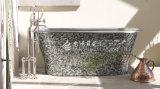 Schwarze quadratische Mosaik-Fliese des Lippenmopp-Shell-15*15mm