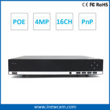 Nuevo H. 264 16CH 4MP / 3MP Poe P2p Video Grabadora de Red