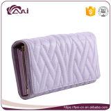 Оптовая муфта тенденции морщит бумажник, пурпуровый бумажник женщин PU цвета