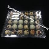 Bandejas plásticas claras del huevo de codorniz del PVC de la oferta de la fabricación de China en agujeros 30PCS (bandeja plástica del huevo)