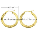 Manera Earring&#160 del oro del laminado del vacío de la joyería de Shineme; (ERS6964)