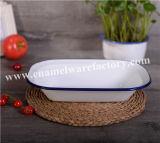 Placa de comida de esmalte de aço carbono e aço de alta qualidade