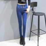 Factory Wholesale Ladies Leisure Fashion Denim Jeans