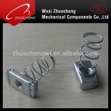 En acier inoxydable plaqué zinc carré de l'écrou de ressort
