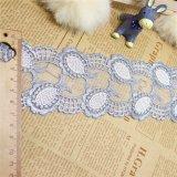 Merletto netto di nylon della maglia di immaginazione della guarnizione del ricamo del poliestere del merletto del commercio all'ingrosso 6.5cm della fabbrica del ricamo di riserva di larghezza per l'accessorio degli indumenti & tessile & tende domestiche