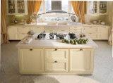 米国式の従来の純木の食器棚デザイン