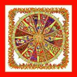 Sciarpa di seta di bella stampa su ordinazione di Digitahi (F13-0023)