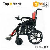 Type neuf de Topmedi pliant le fauteuil roulant d'énergie électrique