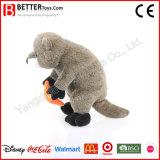Brinquedo macio do luxuoso da lontra de mar do animal enchido do presente para miúdos