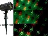 Openlucht Kerstmis die van de Laser Licht verfraaien