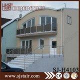 De openlucht Moderne Leuning van de Trede van het Roestvrij staal van het Ontwerp van het Traliewerk van het Balkon met Uitstekende kwaliteit (sj-H1582)