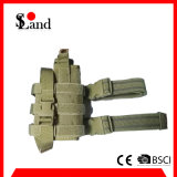 Sacchetto verde militare della custodia per armi della pistola del piedino