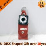 Вращая кожаный USB Pendrive компаса для подарков промотирования (YT-5113)