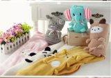 Одеяло Ca-01871A младенца ватки оптового милого одеяла плюша шаржа 2017 животного Coral