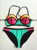 Bikini sexy del Beachwear di stampa di colore solido per l'uomo delle donne/ragazza, usura di nuoto