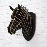Atacado Decoração de parede original Casa criativa Decoração de madeira decorativa Simulação Painéis de cabeça de cavalo Decoração de parede suspensa