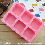 Molde cor-de-rosa de capacidade elevada do cozimento do silicone de Sqaure para o chocolate