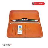 Couverture protectrice de caisse de chiquenaude de pochette en cuir de luxe d'unité centrale pour l'iPhone