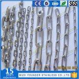 SS304 또는 Ss316 DIN766 링크 사슬 개 사슬