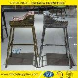 Estilo Metal Barstools Industrial / Bar silla con un cómodo asiento de tela