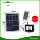 Lampe solaire solaire à télécommande réglable de jardin de projecteur la plus neuve de lumière d'inondation de l'arrivée 20 DEL d'éclat