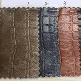 New Fashion Design Design Crocodile PU couro sintético para sacos, sapatos, vestuário. (HS-Y19)