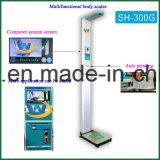 Écran d'ordinateur numérique pièce de monnaie électronique exploité par ultrasons de graisse corporelle humaine pesant Échelle de hauteur et poids