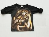 Última Diseño gráfico original 1-4Y de impresión en 3D Tigre de manga larga camiseta del niño, camisetas SQ-17100