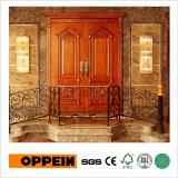 La serie de lujo Oppein doble de madera de fresno blanco deja la puerta delantera (YDA020S)